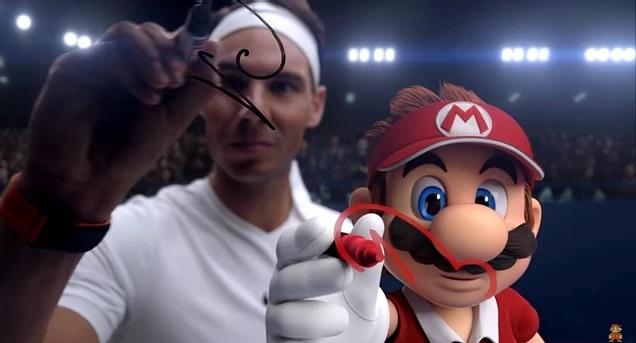Nadal desafía a Mario en el nuevo spot publicitario de Nintendo