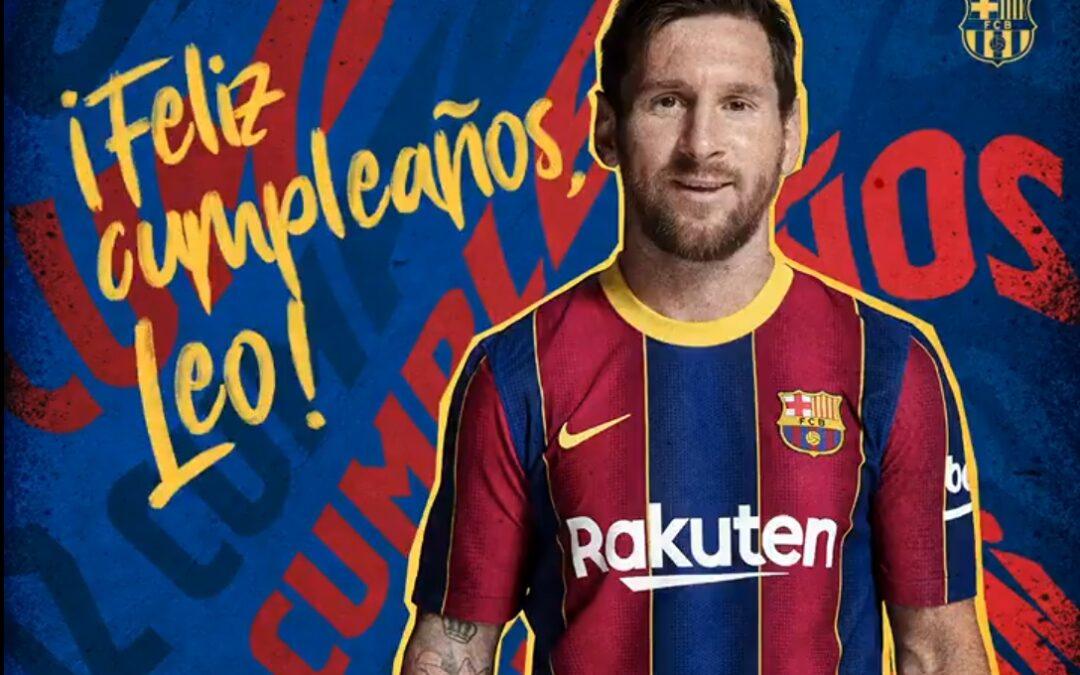 En el cumpleaños 34 de Messi, ¿Cuánto le generó al Barcelona?